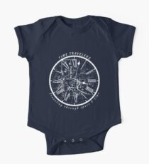 Time Travel T-Shirt Traveling Through Space & Time Circle One Piece - Short Sleeve