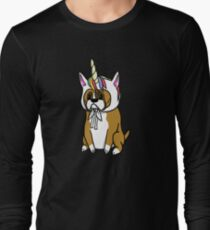 Funny Unicorn Boxer Long Sleeve T-Shirt