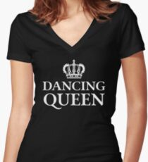 Dancing Queen Women's Fitted V-Neck T-Shirt