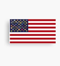 State Trooper, Highway Patrol, State Police, USA Law Enforcement Flag Canvas Print