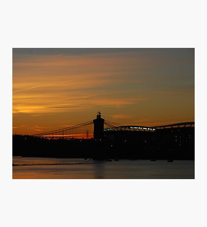 Sunset On The Ohio Photographic Print