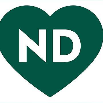 I Love North Dakota State (White) by Chocodole