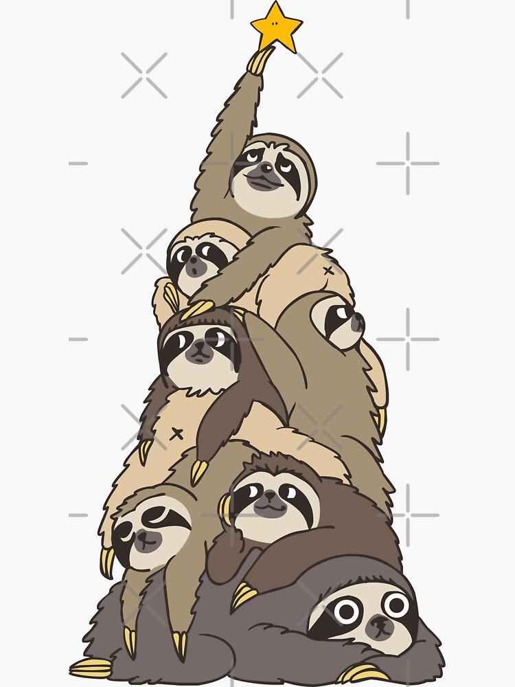 Christmas Tree Sloths by Huebucket