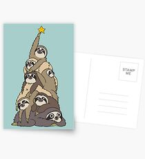 Christmas Tree Sloths Postcards
