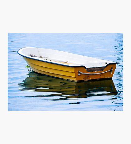 Yellow Row Boat Photographic Print
