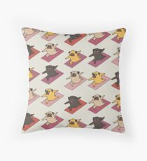 Pugs Warrior  Throw Pillow