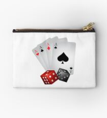 Poker Gambling Four Aces Dice Studio Pouch