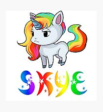 Skye Unicorn Photographic Print