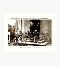 TOUR DE FRANCE; Vintage Taking A Break Print Art Print