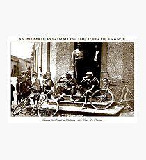 TOUR DE FRANCE; Vintage Taking A Break Print Photographic Print
