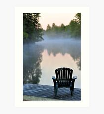 Dock with Chair Art Print