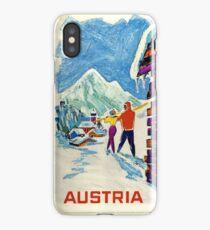 Austria, Ski Poster iPhone Case/Skin