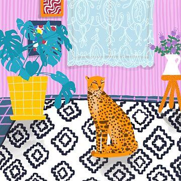 Living Room Wild Cat by cherryandmint
