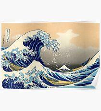 Die große Welle vor Kanagawa, Poster Poster
