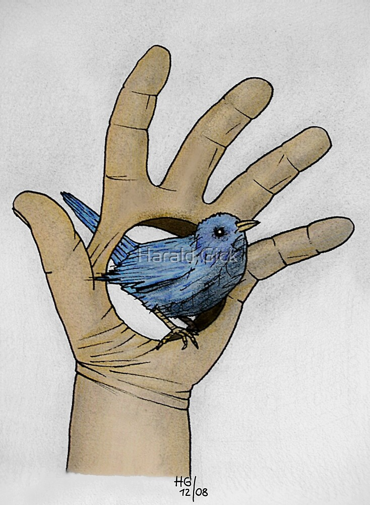 A bird in my hand by Harald Gick
