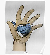 A bird in my hand Poster