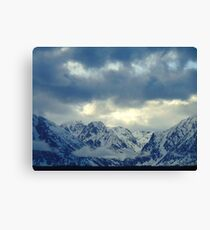 Grand Teton Winter Cloud Canvas Print