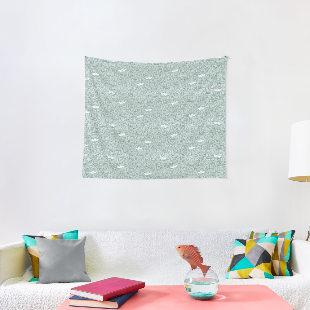 Little Paperboats Tapestry