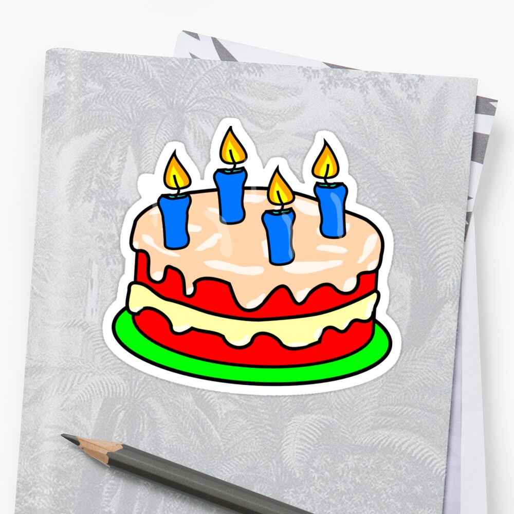 Strawberry Birthday Cake Emoji