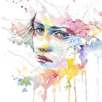 Watercolor girl by LaFranceDesigns