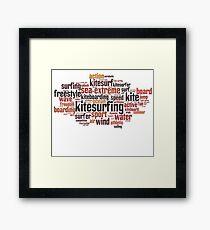 Kite Surfing Lovers Framed Print