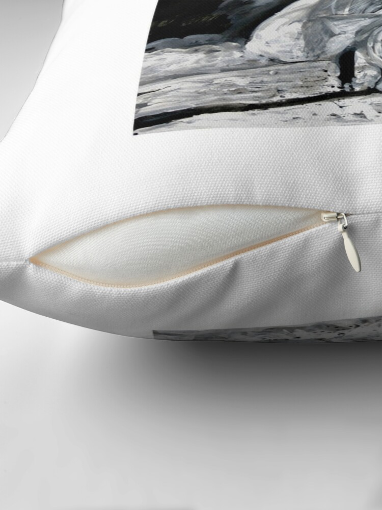 Alternate view of The White Deer Throw Pillow
