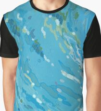 Waves Curving to the Left Graphic T-Shirt