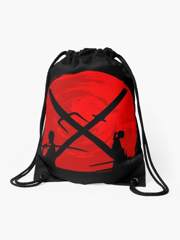 b5cd292f124a Samurai sunset | Drawstring Bag