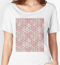 Abstract polygonal pattern of pastel colors. Women's Relaxed Fit T-Shirt