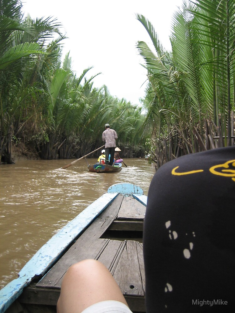 Rowing a boat in Mekong Delta by MightyMike