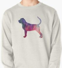 Bloodhound Dog Breed Geometric Silhouette Pink Pullover