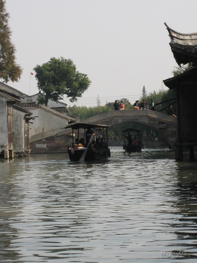 A river in the old city of Shanghai by MightyMike