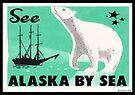 Alaska By Sea Vintage Travel Polar Bear Luggage by MyHandmadeSigns