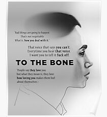 Drawing - To The Bone (Lily Collins) Poster