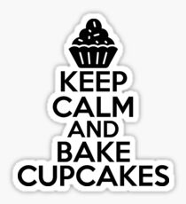 Keep Calm And Bake Cupcakes Sticker & T-Shirt - Gift For Baker Sticker