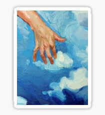 Touching Clouds Sticker