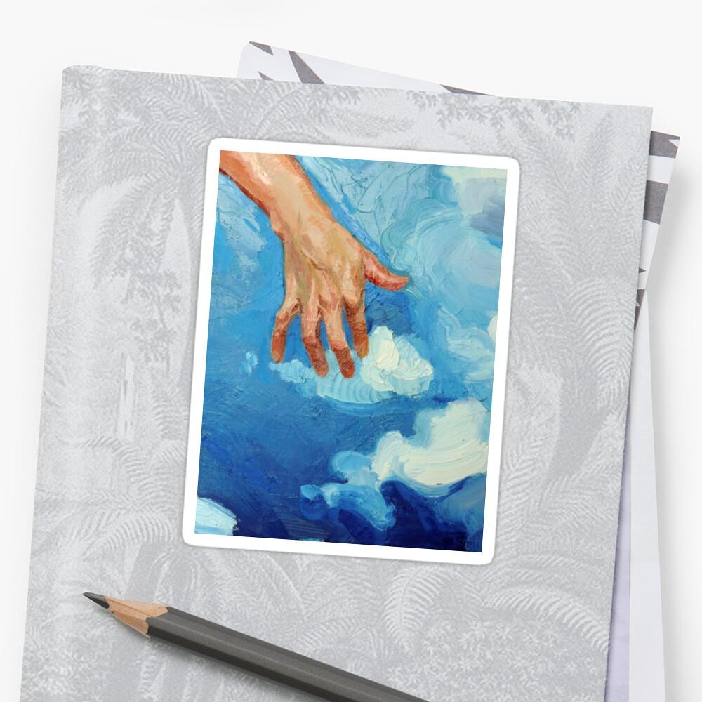 Touching Clouds Sticker