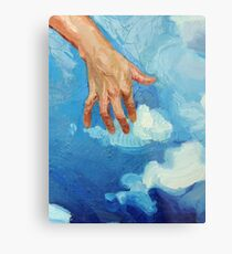 Touching Clouds Metal Print