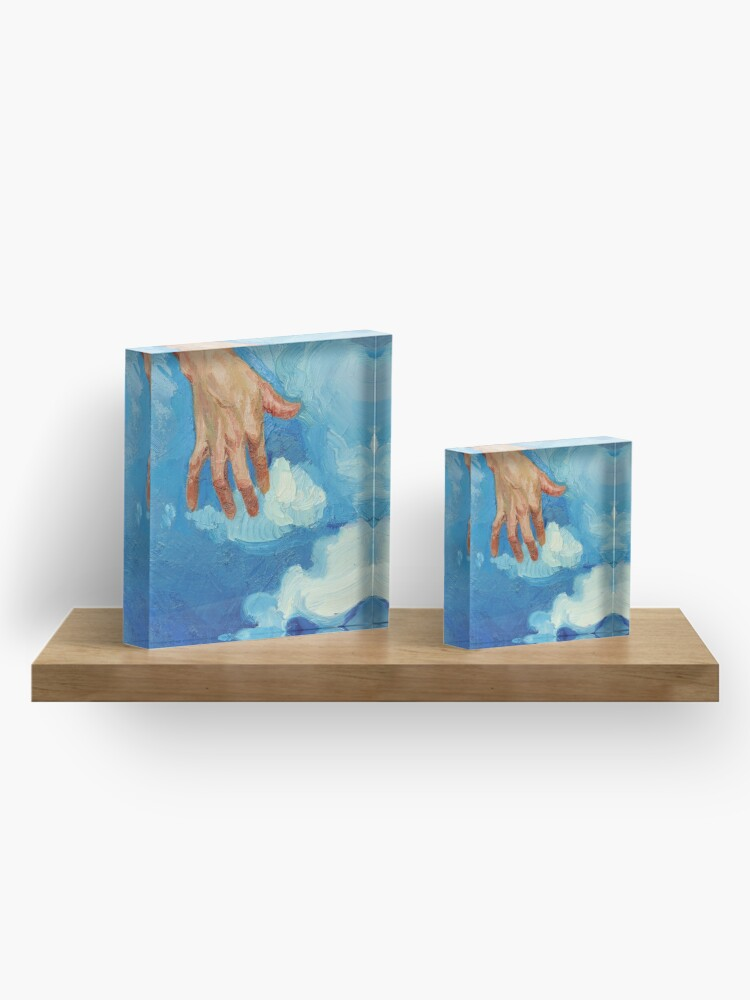 Alternate view of Touching Clouds Acrylic Block
