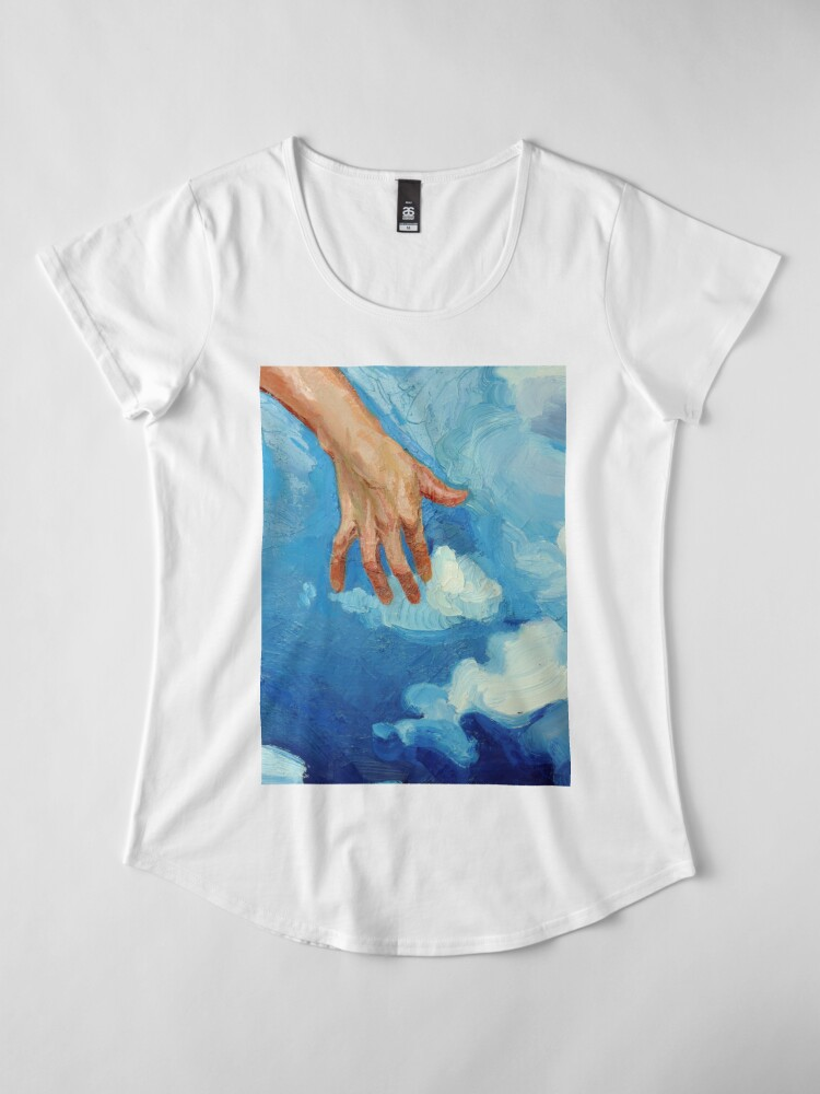 Alternate view of Touching Clouds Premium Scoop T-Shirt
