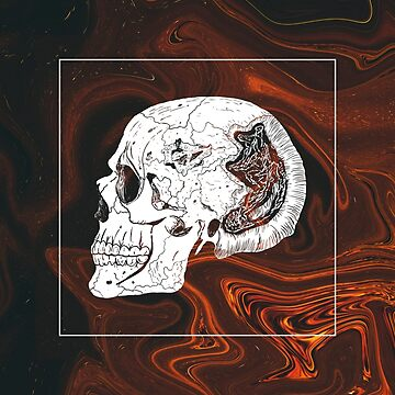 Fire Marble Skull by RGDESIGNS93