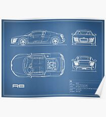 The R8 V10 Blueprint Poster