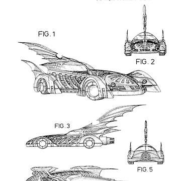 Batmobile Patent Black by Vesaints