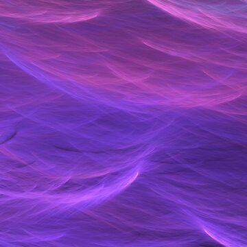 Pink and Purple Ultra Violet Soft Waves by BluedarkArt