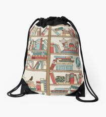 Bookshelf No.2 Drawstring Bag