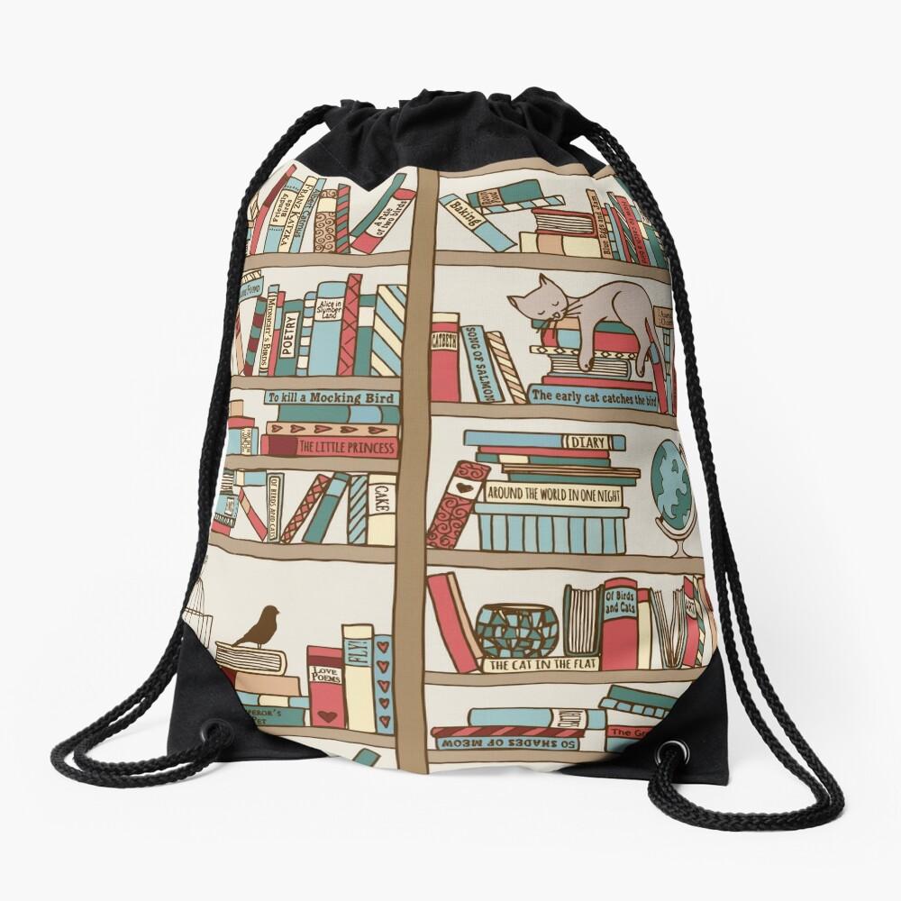 Bookshelf No.2 Drawstring Bag