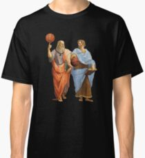 Plato and Aristotle in Epic Basketball Match Classic T-Shirt