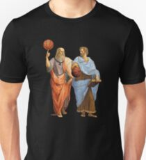 Plato and Aristotle in Epic Basketball Match Unisex T-Shirt