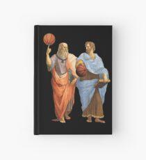 Cuaderno de tapa dura Platón y Aristóteles en partido de baloncesto épica
