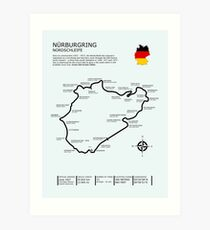 The Nurburgring - Nordschleife Art Print
